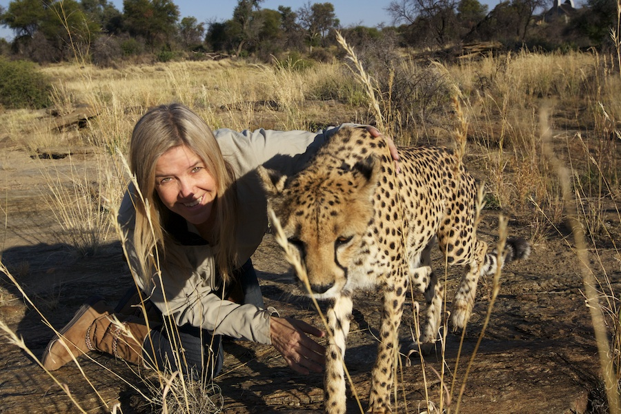 Piper Mackay with Cheetah