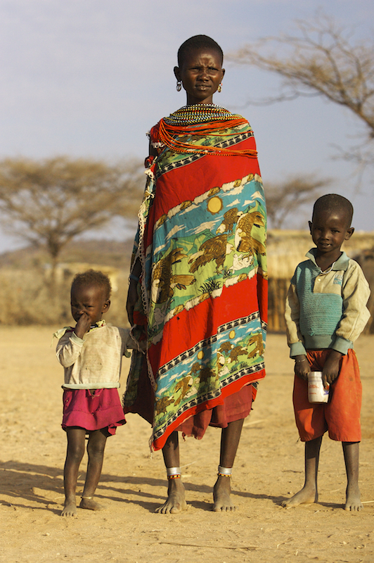 Massai Women with her children