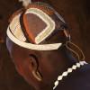 Hair-bun of the Daasanach warrior, Omo Valley, Ethiopia