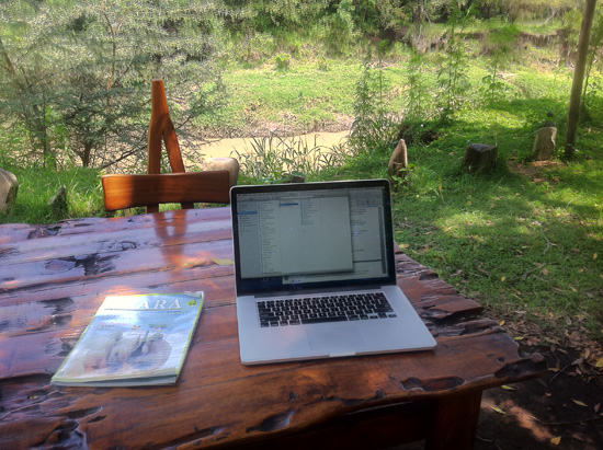 Office in Nature - captured on the iphone4 - at Mara Bush Camp