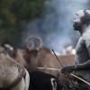 Suri cattle camp in the Omo Valley, Ethiopia