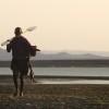 Coming back from fishing on Lake Turkana, Turkana Tribe, Kenya