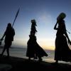 Turkana Tribe on the shores of Lake Turkana, Kenya