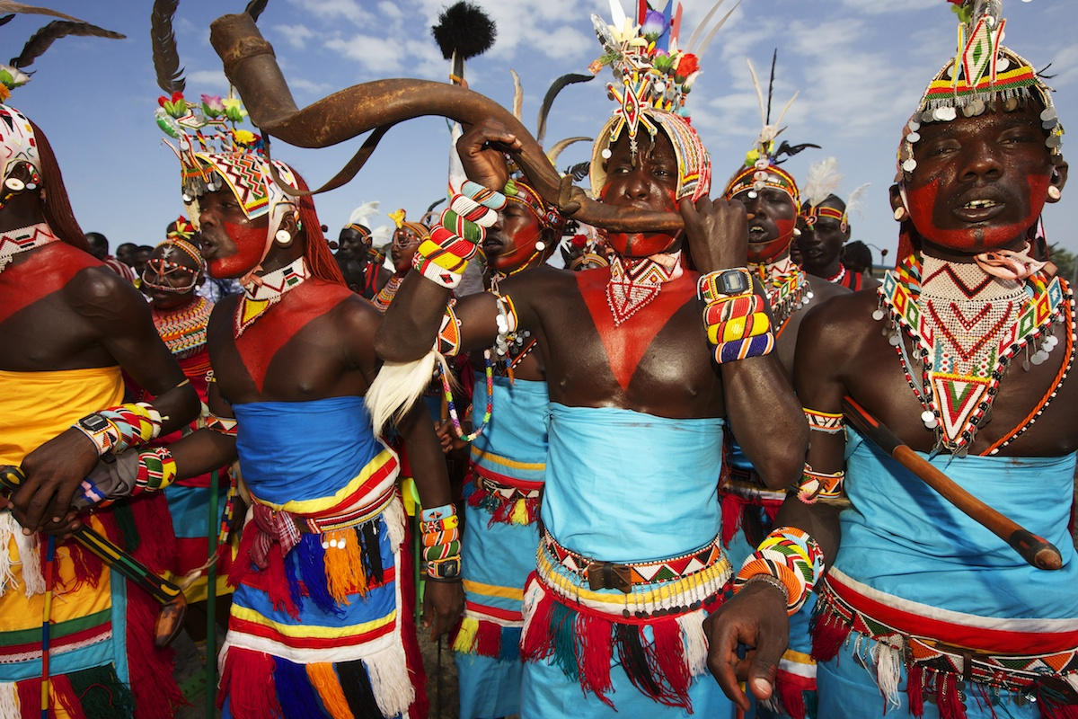 Rendili tribe dancing