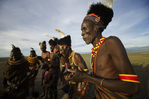 Turkana tribe dancing