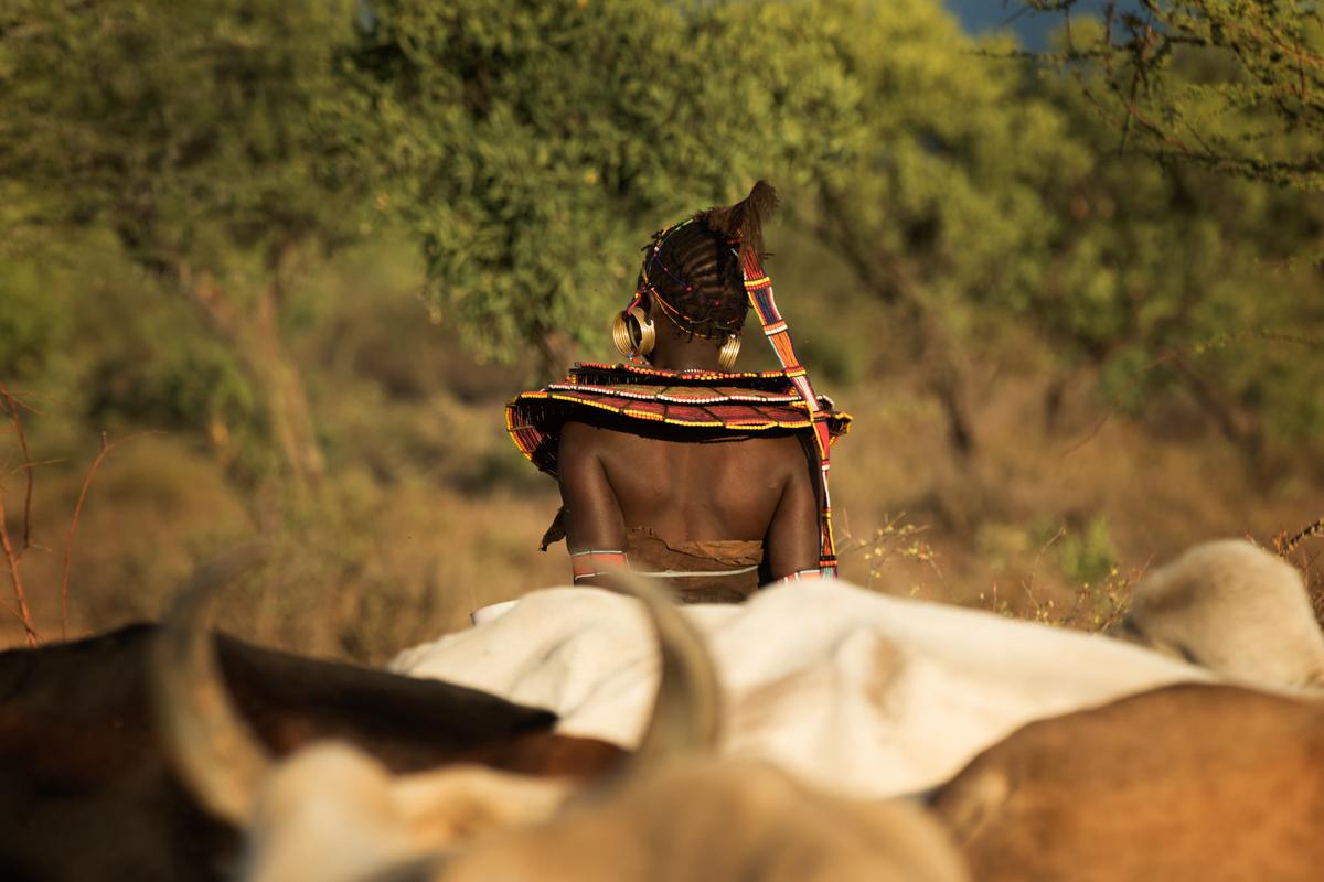 Pocket tribal women in Northern Kenya