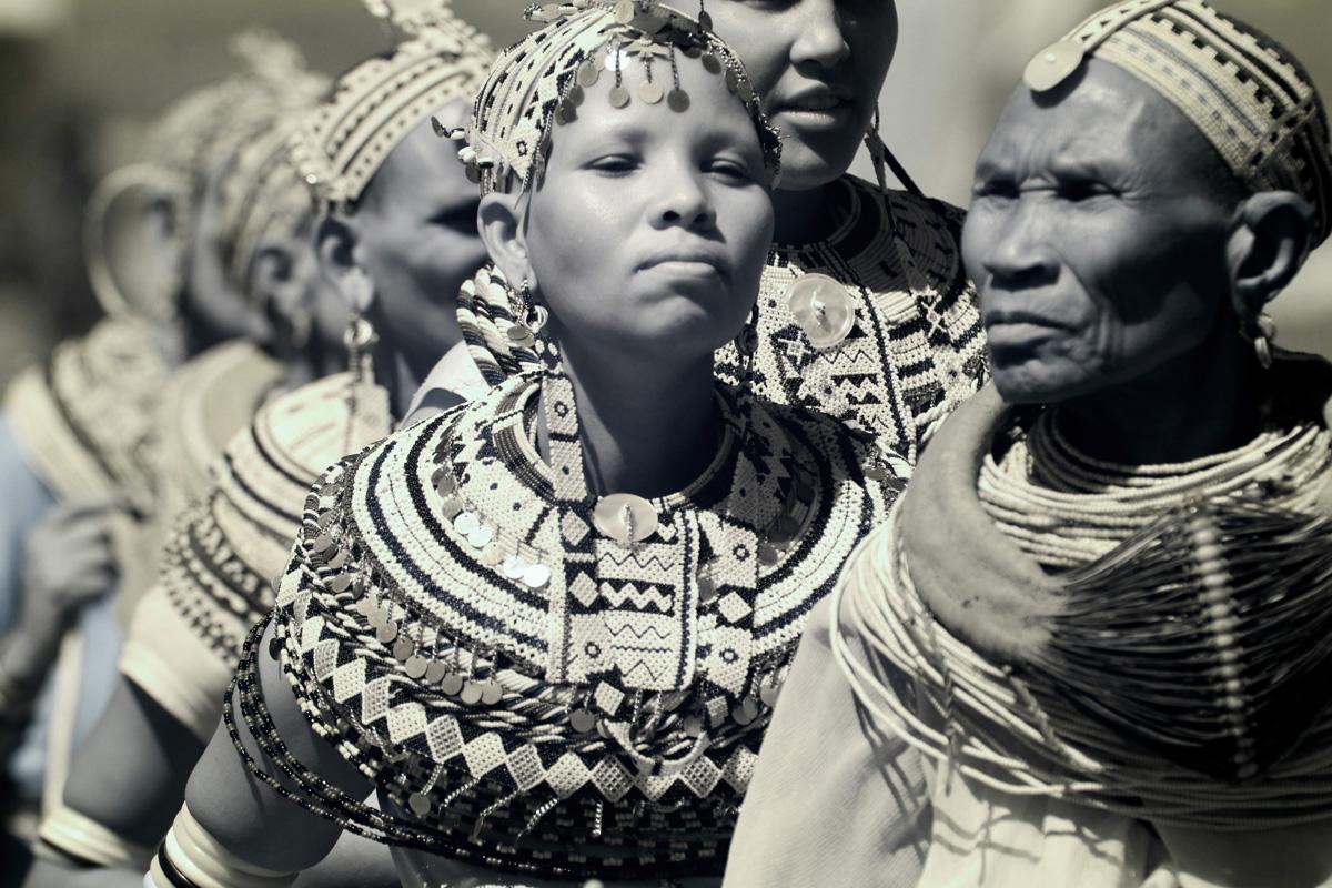 Rendili tribe dancing at the Turkana Festival