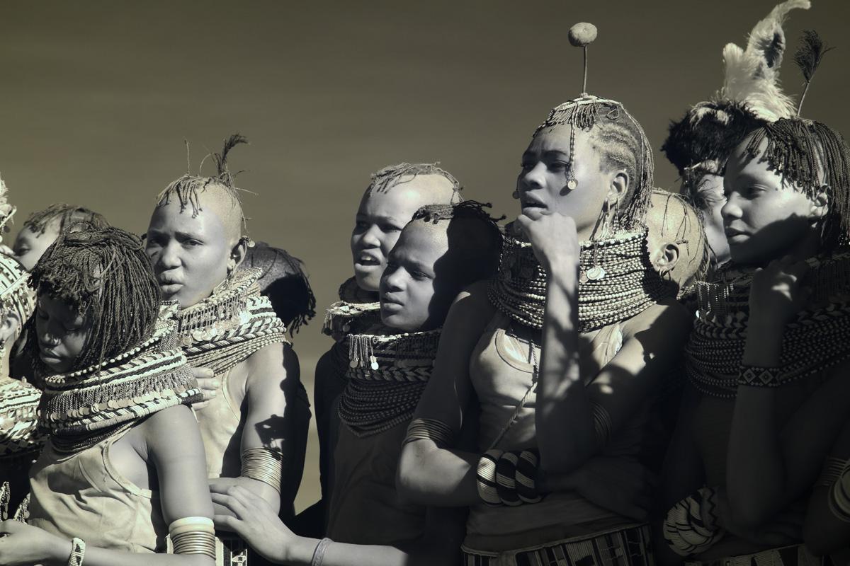Turkana tribe at the Turkana Festival, Northern Kenya